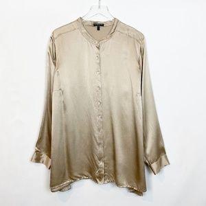 Eileen Fisher Metallic Silk Matelasse Tunic 2X